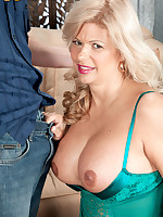 50 Plus MILFs - Big tits, pierced pussy, anal and a creampie, too! - Miss Deb (61 Photos)