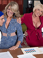 50 Plus MILFs - How to suck dick in business while really fucking - Jenna Covelli and Scarlet Andrews (42 Photos)