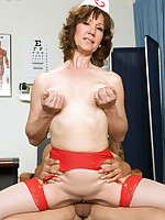 50 Plus MILFs - Elle's First Time...And It's In Her Ass! - Elle Denay (80 Photos)