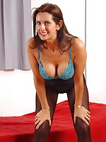 Hot mom Angie loves to show her panties - Milf Nylon