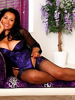 Danica Collins in classy corset, stockings and heels - Granny Girdles