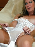 sheer stockings and panties milf - Granny Girdles