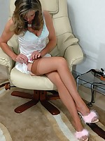 hot milf in vintage nylons and slip - Granny Girdles