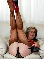 sheer fun in nylons and panties - Granny Girdles